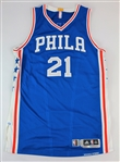 Joel Embiid Game worn 2016-17 Philadelphia 76ers road rookie jersey- Photomatched to Jan 16, 2017 game (Fanatics, RGU)