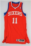 Jrue Holiday Philadelphia 76ers game worn playoffs jersey (MEIGRAY)